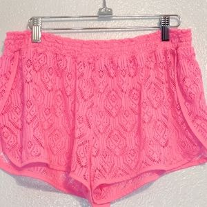 OP Swim Cover Up Shorts XL Pink